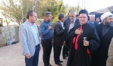 المطران رحمة التقى عشيرة آل مشيك معزيًا: كل خسارة يجب أن تكون سببًا لنتعاهد بأن يكون الدم فداء للبنان