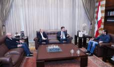 الحريري تابع لقاءاته للبحث بالأوضاع الاقتصادية والتقى خليل وصحناوي وممثلا عن الإشتراكي
