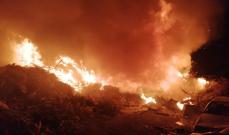 النشرة: إخماد حريق هشير وأعشاب في جادة نبيه بري- صيدا