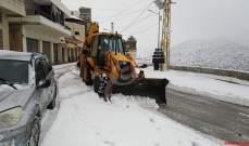 النشرة: الثلوج في حاصبيا تتساقط على ارتفاع 1000 متر وما فوق