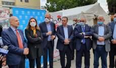 """حسن يدشن افتتاح مركزا للحجر الصحي بمهنية """"سبلين"""" للاجئين الفلسطينيين"""