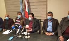 البعريني لمزارعي عكار: سنخيم أمام الوزارات لنيل حقوقنا ومطالبنا