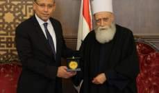 النجاري زار الشيخ حسن: مصر ستستمر بتقديم كل الممكن من أجل استقرار لبنان