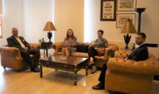 عبود التقى سفيرتا الدنمارك واليونان ووفدا من السفارة الفرنسية وبحث معهم سبل اعادة اعمار بيروت