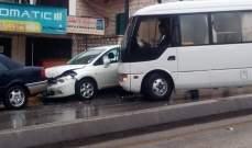 النشرة: حادث سير في شارع رياض الصلح الرئيسي في صيدا