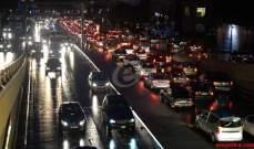 التحكم المروري: حركة المرور كثيفة على اوتوستراد نهر الكلب باتجاه جونية