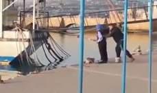 قوى الأمن: توقيف الشاب الذي أوقع رجلا مسنا في بحر صيدا
