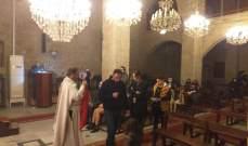 الأب إميل حداد احتفل بقداس الميلاد بكنيسة القديس جاورجيوس بفي حاصبيا