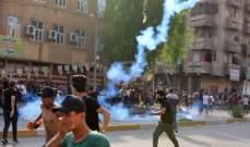 القوات الأمنية تستخدم الرصاص الحي ضد متظاهرين قرب التلفزيون الرسمي في بغداد