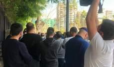 اعتصام لاصحاب مكاتب تأجير السيارات امام الداخلية للسماح لهم بالعمل