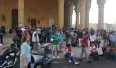 تظاهرة في ساحة الشهداء ضد الطائفية وللمطالبة بإقرار قانون العفو العام