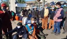 اعتصام لعمال معمل فرز النفايات في صيدا
