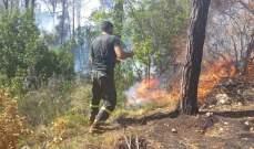 الدفاع المدني سيطر على حريق في بلدة عيات العكارية