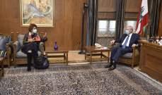 بري التقى رشدي وعرض مع سفيرة فرنسا الاوضاع العامة