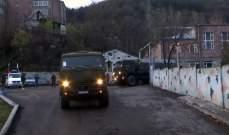 الدفاع الروسية: بدء عمل المجموعة الطليعية لمركز التجاوب الإنساني بقره باغ