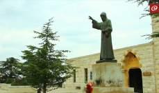 بدء القداس الإلهي بمناسبة عيد القديس شربل في دير مار مارون- عنايا