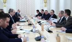 المقداد أكد خلال لقائه لافروف أهمية تعزيز العلاقات الاستراتيجية بين سوريا وروسيا