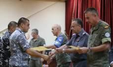 اختتام الدورة التدريبية بين الكتيبة الإسبانية وقوى الامن في سهل البلاط