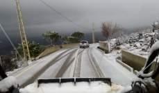 النشرة: الثلوج بدأت بالتساقط ابتداء من ارتفاع 950 مترا في حاصبيا وشبعا