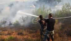 اندلاع سلسة من الحرائق ببعض البلدات العكارية بسبب إرتفاع درجات الحرارة