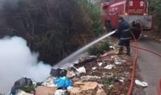 الدفاع المدني: إخماد حريق داخل مكب للنفايات في الصالحية- كسروان