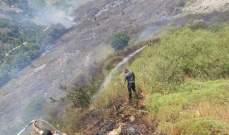 اندلاع حريق اتى على مساحة من الأرض العشبية في القبيات