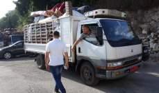 النشرة: انطلاق دفعة نازحين سوريين تضم 59 نازحا من النبطية عائدة الى بلدهم