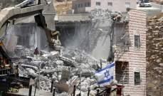 الإندبندنت: عدد الفلسطينيين الذين تشردوا بسبب عمليات الهدم الإسرائيلية قد بلغ أعلى مستوى له منذ 4 أعوام
