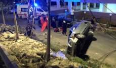 النشرة: سقوط جريح بحادث سير في بقسطا شرق صيدا