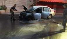 النشرة: إخماد حريق سيارة في عبرا شرق مدينة صيدا