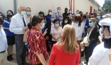 رؤساء وممثلو بعثات دبلوماسية زاروا عيادات العلاج الفيزيائي بمستشفى الكرنتينا