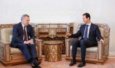 الأسد وبوريسوف بحثا بالتعاون القائم بين سوريا وروسيا في المجالات كافة