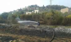 الدفاع المدني يخمد حريقا شب في أعشاب يابسة في بيت الكيكو في المتن