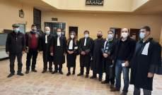 محامو بعلبك نفذوا اعتصاما داخل قصر العدل تنفيذا لقرار النقابة