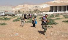 الجيش يسهل دخول النازحين من مخيمات وادي حميد الى داخل عرسال