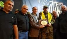 بلدية لبايا قدمت درعا تقديريت للاسير المحرر احمد معتوق