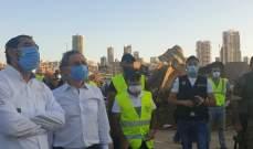 جولة لوزير الاقتصاد والتجارة على إهراءات القمح في مرفأ بيروت متفقدا الأضرار