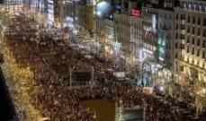 عشرات آلاف التشيكيين تظاهروا في براغ للمطالبة باستقالة رئيس الوزراء