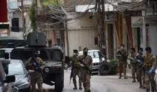 النشرة: قوة من الجيش داهمت منازل مطلوبين بالشراونة وردت على مصادر اطلاق النار