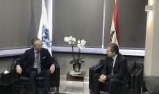 وزني عرض مع سفير اليابان للمساعدات التي تقدمها بلاده للبنان