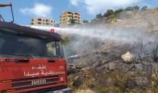النشرة: عناصر سرية اطفاء صيدا اخمدوا حريق خلف ثكنة زغيب