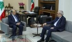الرئيس عون التقى سرحان وعرض معه لشؤون الوزارة ولعدد من المواضيع القضائية