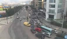 حركة المرور كثيفة على طريق المطار القديمة وعلى جادة شفيق الوزان