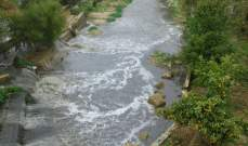 الأمطار على منطقة حاصبيا جرفت المياه الآسنة لتلوث نهر الحاصباني