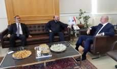فنيانوس التقى الرياشي والسفير الايراني وتابع شؤونا انمائية