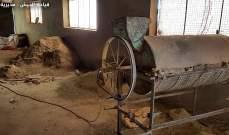 الجيش: دهم مزرعة في بلدة بوداي في بعلبك وضبط معمل لتصنيع المخدرات