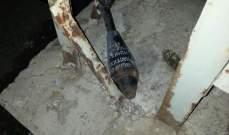 النشرة: العثور على قذيفة هاون غير منفجرة في أحد حقول عين قنيا