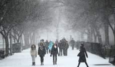 إلغاء 1240 رحلة طيران في الولايات المتحدة بسبب عاصفة ثلجية