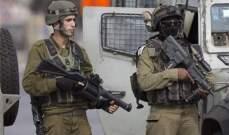 القوات الإسرائيلية اعتقلت 15 فلسطينيا في مناطق متفرقة بالضفة الغربية