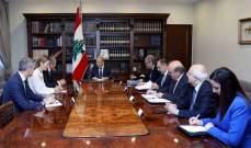 الرئيس عون بحث مع سفير الإتحاد الأوروبي في لبنان الأوضاع العامة